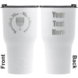 Hanukkah RTIC Tumbler - White - Engraved Front & Back (Personalized)