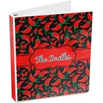 Chili Peppers 3-Ring Binder (Personalized)