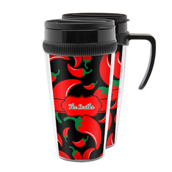 Chili Peppers Acrylic Travel Mugs (Personalized)