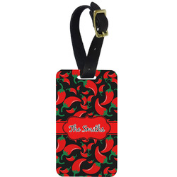 Chili Peppers Aluminum Luggage Tag (Personalized)