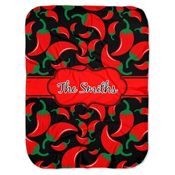 Chili Peppers Baby Swaddling Blanket (Personalized)