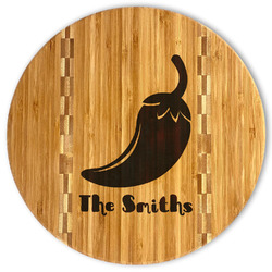 Chili Peppers Bamboo Cutting Board (Personalized)