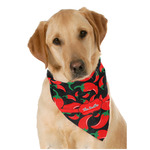 Chili Peppers Dog Bandana Scarf w/ Name or Text