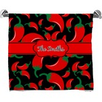 Chili Peppers Full Print Bath Towel (Personalized)
