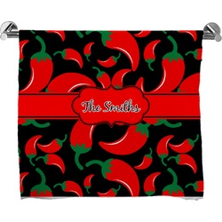 Chili Peppers Bath Towel (Personalized)
