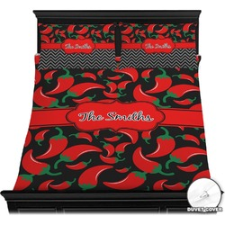 Chili Peppers Duvet Cover Set (Personalized)
