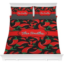 Chili Peppers Comforter Set - Full / Queen (Personalized)