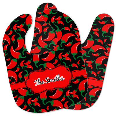 Chili Peppers Baby Bib w/ Name or Text