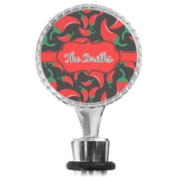 Chili Peppers Wine Bottle Stopper (Personalized)