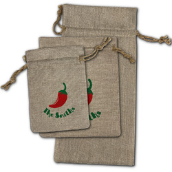 Chili Peppers Burlap Gift Bags (Personalized)