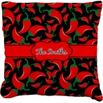 Chili Peppers Faux-Linen Throw Pillow (Personalized)