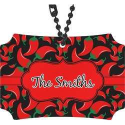 Chili Peppers Rear View Mirror Ornament (Personalized)