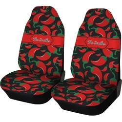 Chili Peppers Car Seat Covers (Set of Two) (Personalized)