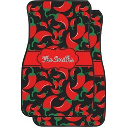 Chili Peppers Car Floor Mats (Front Seat) (Personalized)