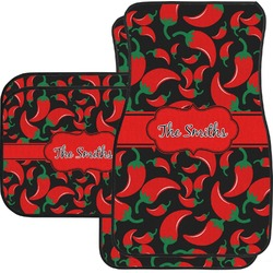 Chili Peppers Car Floor Mats Set - 2 Front & 2 Back (Personalized)