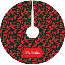 Chili Peppers Tree Skirt (Personalized)