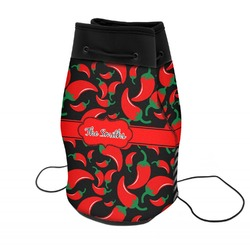 Chili Peppers Neoprene Drawstring Backpack (Personalized)