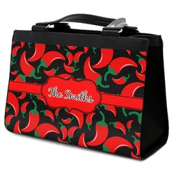 Chili Peppers Classic Tote Purse w/ Leather Trim w/ Name or Text