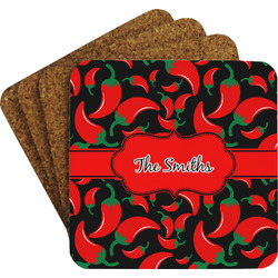 Chili Peppers Coaster Set (Personalized)