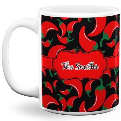 Chili Peppers 11 Oz Coffee Mug - White (Personalized)