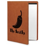 Chili Peppers Leatherette Portfolio with Notepad (Personalized)