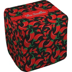 Chili Peppers Cube Pouf Ottoman (Personalized)