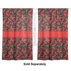 "Chili Peppers Curtains - 20""x54"" Panels - Lined (2 Panels Per Set) (Personalized)"