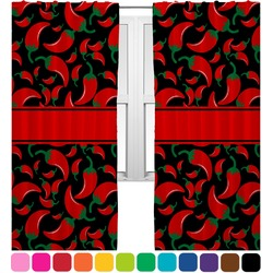 Chili Peppers Curtains (2 Panels Per Set) (Personalized)