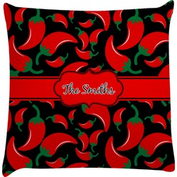 Chili Peppers Decorative Pillow Case (Personalized)