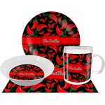 Chili Peppers Dinner Set - 4 Pc (Personalized)