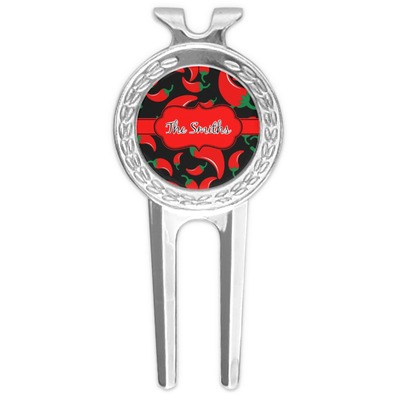 Chili Peppers Golf Divot Tool & Ball Marker (Personalized)