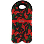Chili Peppers Wine Tote Bag (2 Bottles) (Personalized)