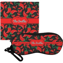 Chili Peppers Eyeglass Case & Cloth (Personalized)