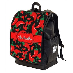 Chili Peppers Backpack w/ Front Flap  (Personalized)
