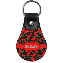 Chili Peppers Genuine Leather  Keychains (Personalized)