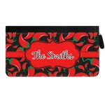 Chili Peppers Genuine Leather Ladies Zippered Wallet (Personalized)