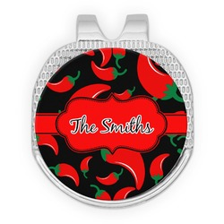 Chili Peppers Golf Ball Marker - Hat Clip