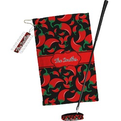 Chili Peppers Golf Towel Gift Set (Personalized)