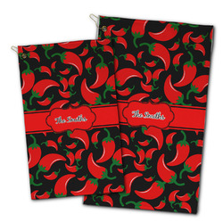 Chili Peppers Golf Towel - Full Print w/ Name or Text