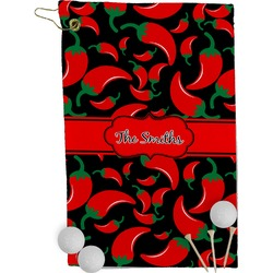 Chili Peppers Golf Towel - Full Print (Personalized)