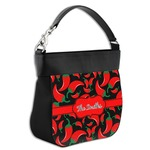 Chili Peppers Hobo Purse w/ Genuine Leather Trim (Personalized)