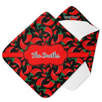 Chili Peppers Hooded Baby Towel (Personalized)