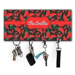 Chili Peppers Key Hanger w/ 4 Hooks (Personalized)