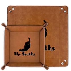 Chili Peppers Faux Leather Valet Tray (Personalized)