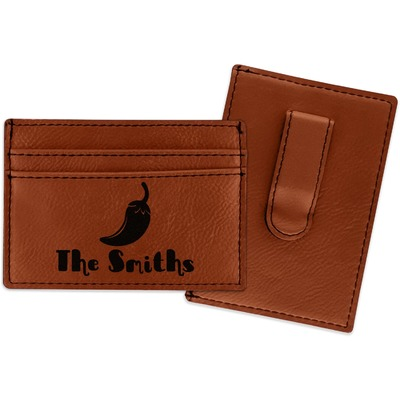 Chili Peppers Leatherette Wallet with Money Clip (Personalized)