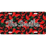 Chili Peppers Front License Plate (Personalized)
