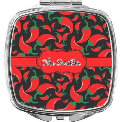 Chili Peppers Compact Makeup Mirror (Personalized)