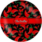 Chili Peppers Melamine Plate (Personalized)
