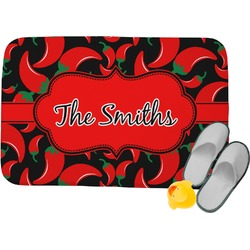 Chili Peppers Memory Foam Bath Mat (Personalized)
