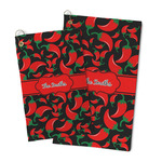 Chili Peppers Microfiber Golf Towel (Personalized)